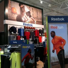 Reebock Retail Graphics and Display Installation