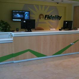 Fidelity Reception Desk Graphics